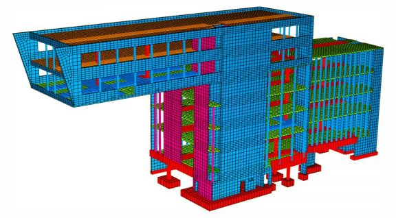 FEM meshing of an office building